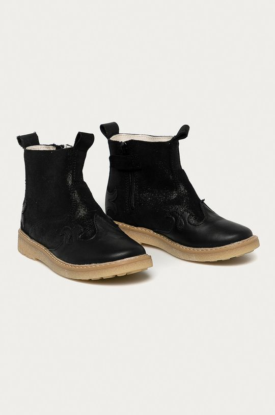 Mrugała - Детские кожаные кроссовки чёрный