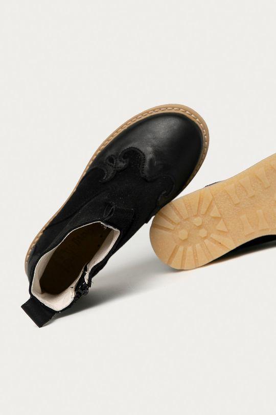 чёрный Mrugała - Детские кожаные кроссовки