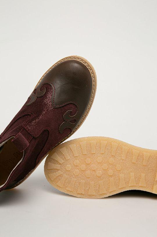 kaštanová Mrugała - Dětské kožené boty