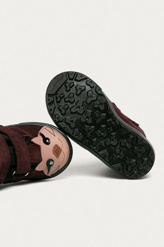 gaštanová Mrugała - Detské kožené topánky