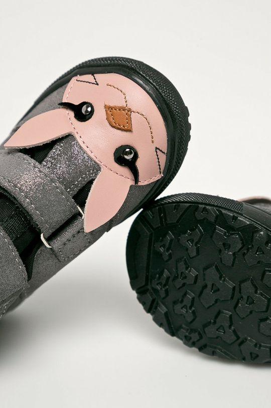 srebrny Mrugała - Buty skórzane dziecięce