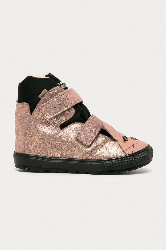 ružová Mrugała - Detské semišové topánky Dievčenský