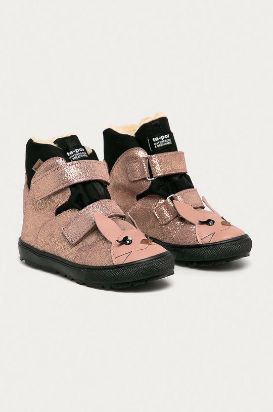 Mrugała - Detské semišové topánky ružová