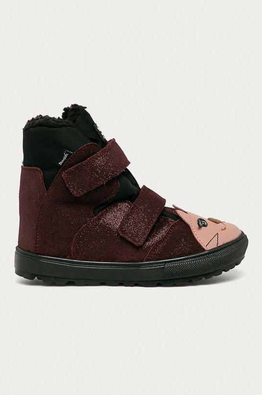 gaštanová Mrugała - Detské semišové topánky Dievčenský