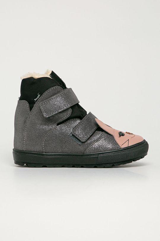 strieborná Mrugała - Detské semišové topánky Dievčenský