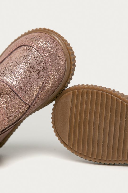 zlatá Mrugała - Dětské semišové boty