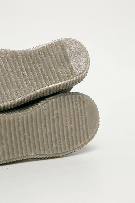 stříbrná Mrugała - Dětské semišové boty