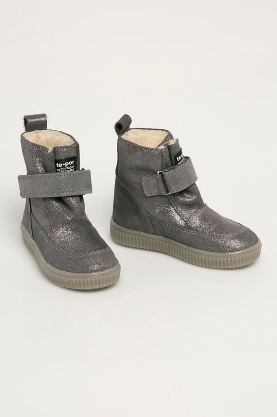 Mrugała - Detské topánky strieborná