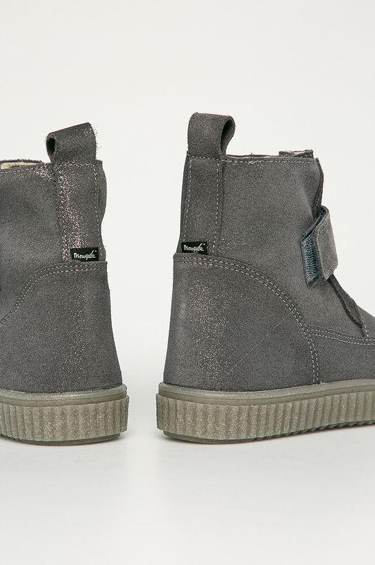 Mrugała - Dětské semišové boty  Svršek: Přírodní kůže Vnitřek: Textilní materiál Podrážka: Umělá hmota