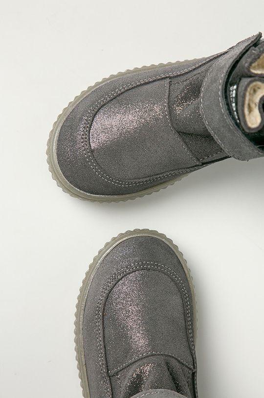 Mrugała - Dětské semišové boty Dívčí