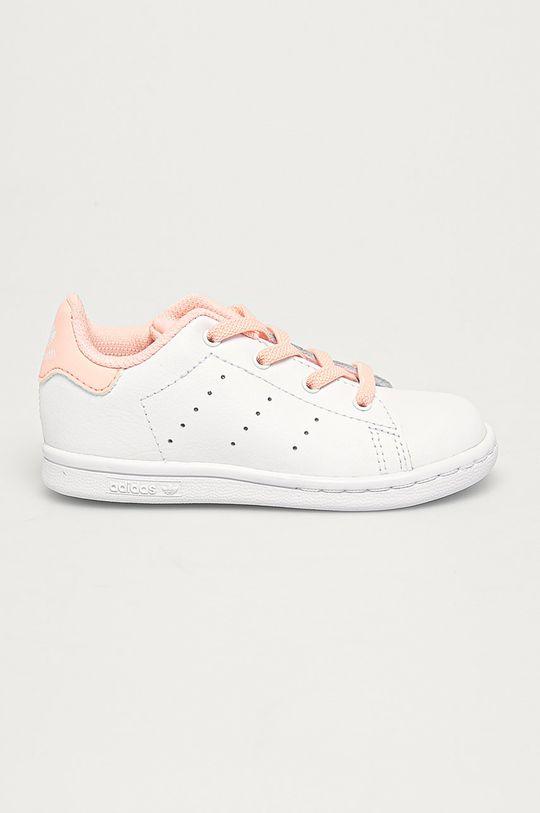 alb adidas Originals - Pantofi copii Stan Smith El I De fete