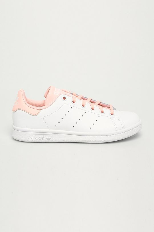 alb adidas Originals - Pantofi copii Stan Smith De fete