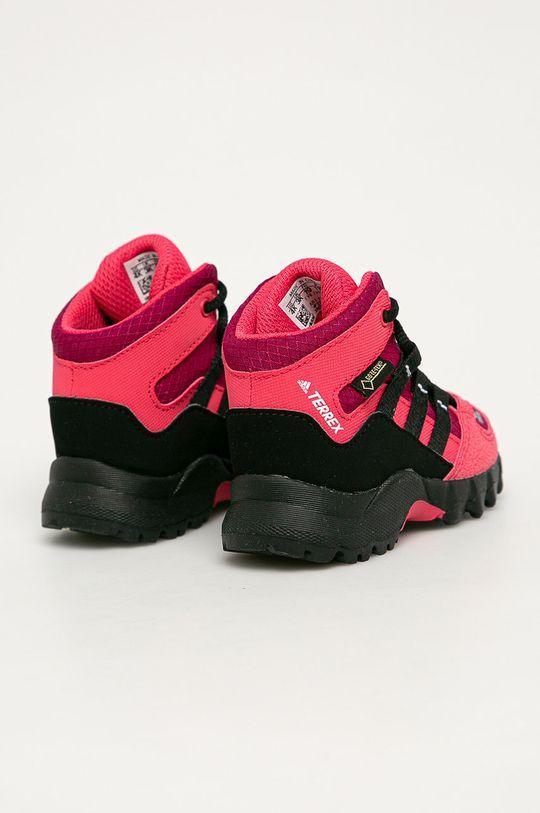 ostry różowy adidas Performance - Buty dziecięce Terrex Mid Gtx