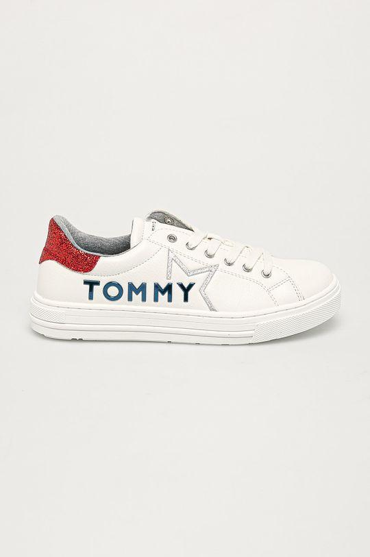 alb Tommy Hilfiger - Pantofi copii De fete