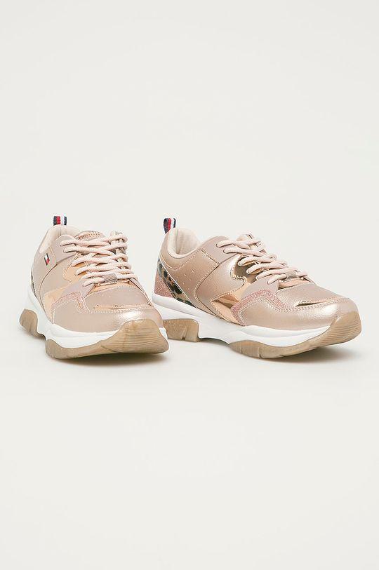 Tommy Hilfiger - Detské topánky zlatá