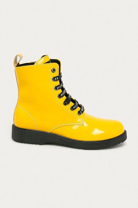 żółty Tommy Hilfiger - Workery dziecięce Dziewczęcy