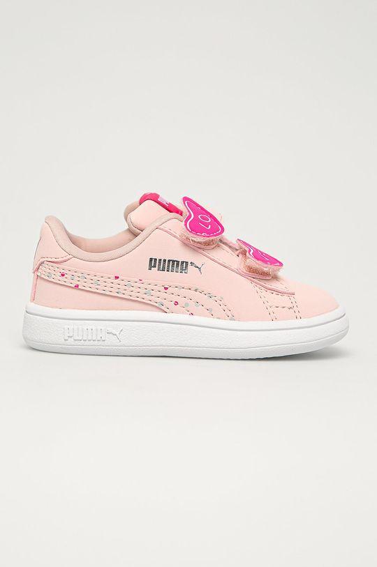 roz pastelat Puma - Pantofi copii Smash v2 Cndy De fete
