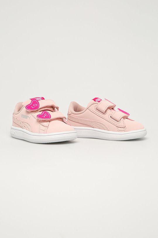 Puma - Pantofi copii Smash v2 Cndy roz pastelat