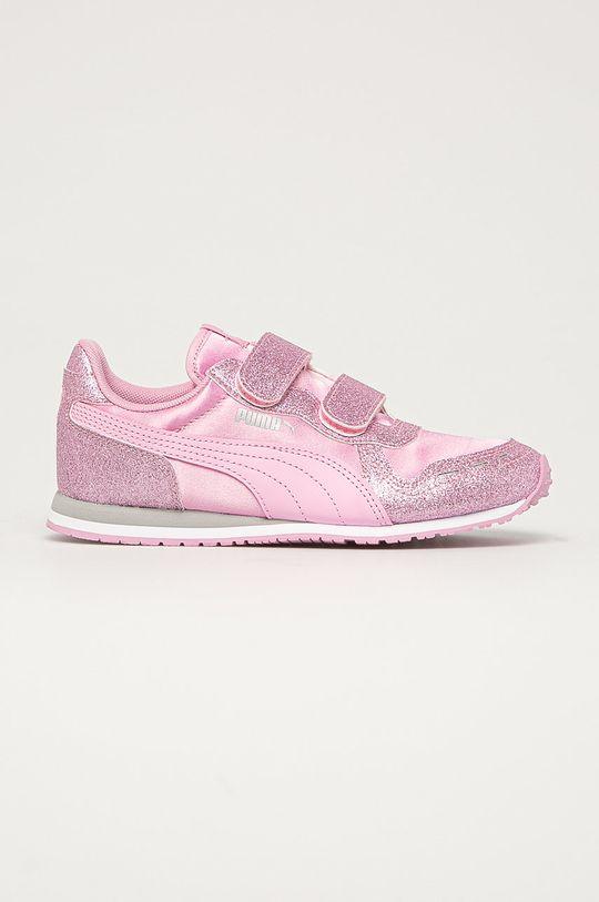 roz murdar Puma - Pantofi copii Cabana Racer De fete