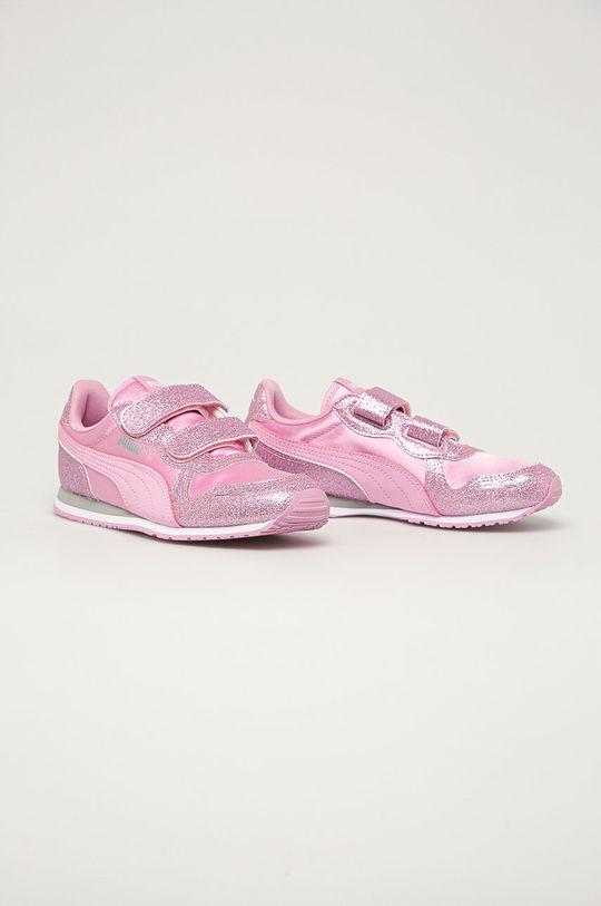 Puma - Pantofi copii Cabana Racer roz murdar