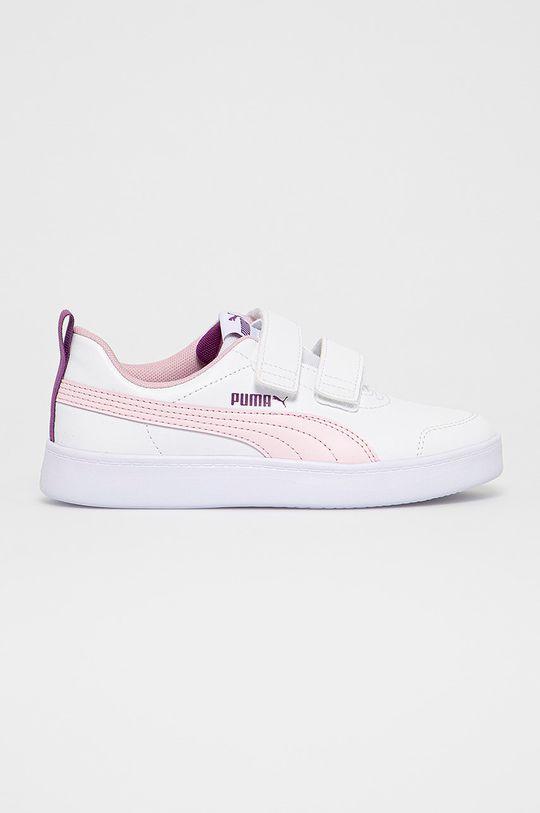 biały Puma - Buty 371543 Dziewczęcy