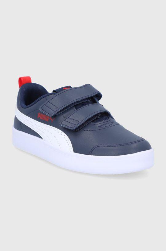 Puma - Pantofi copii Courtflex v2 V PS bleumarin