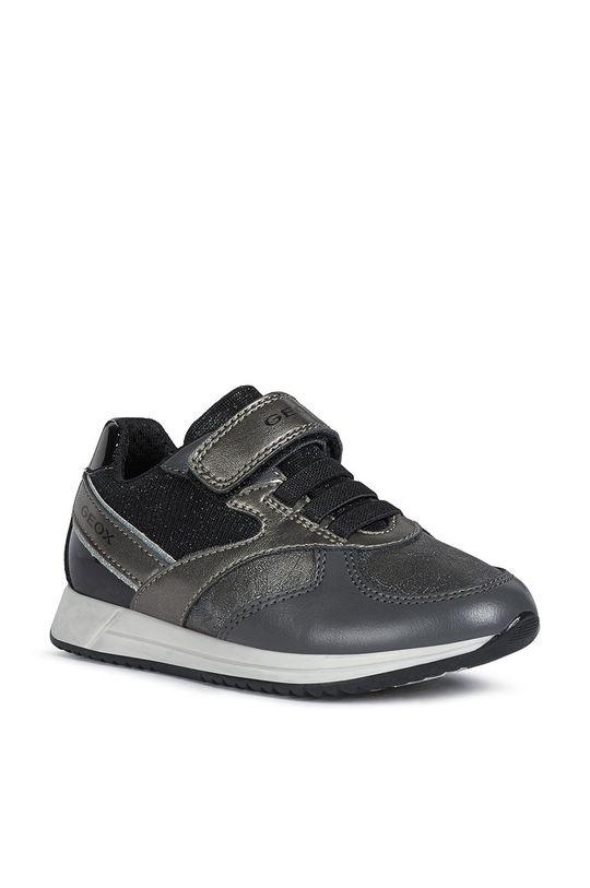 Geox - Dětské boty grafitová