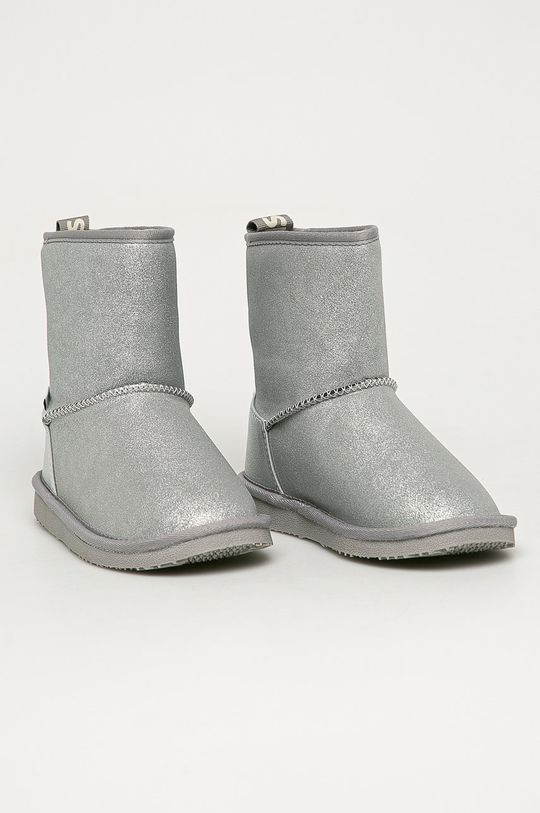 Pepe Jeans - Cizme de iarna copii Angel Shiny argintiu