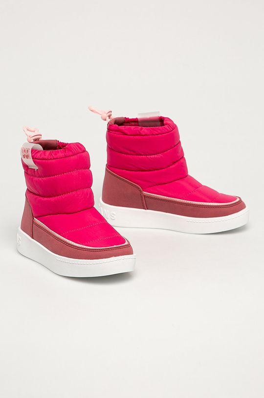 Pepe Jeans - Cizme de iarna copii Brixton roz ascutit