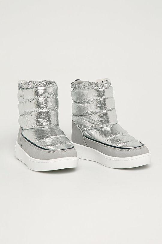 Pepe Jeans - Cizme de iarna copii Brixton argintiu