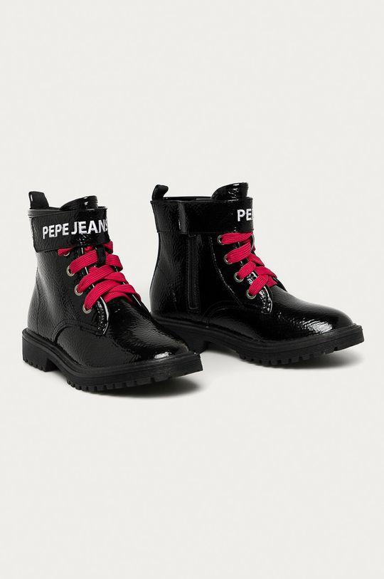 Pepe Jeans - Workery dziecięce Hatton Velcro czarny