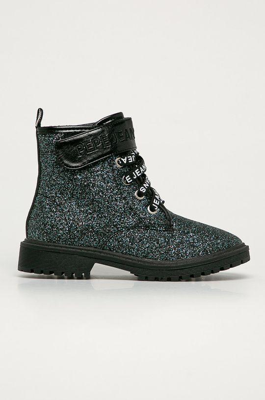 černá Pepe Jeans - Dětské Farmářky Hatton Velcro Glitter Dívčí