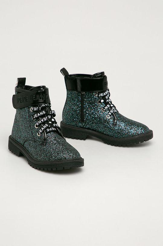Pepe Jeans - Dětské Farmářky Hatton Velcro Glitter černá