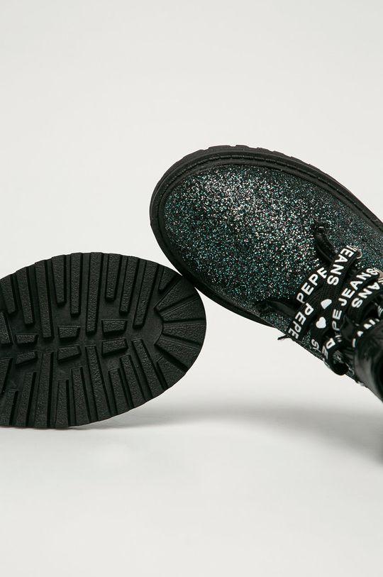 černá Pepe Jeans - Dětské Farmářky Hatton Velcro Glitter