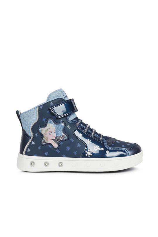 Geox - Detské topánky Disney Frozen tmavomodrá