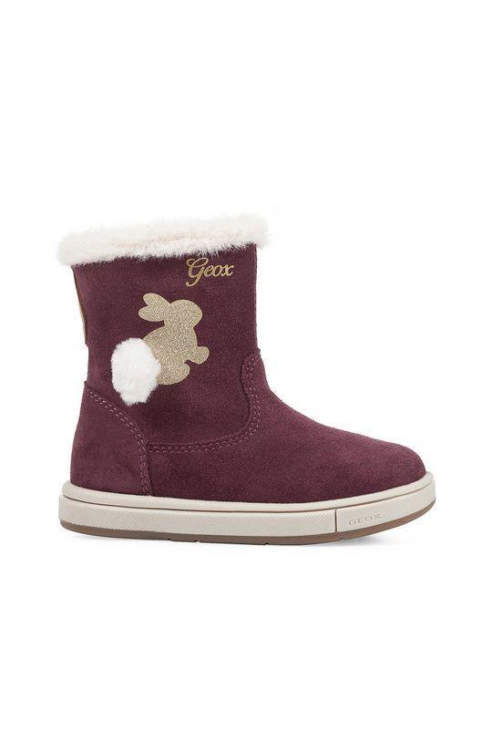 kaštanová Geox - Dětské boty Dívčí