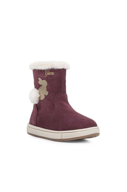 Geox - Dětské boty kaštanová