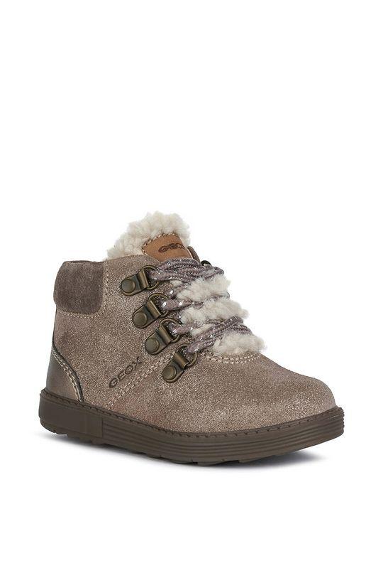 Geox - Detské kožené topánky sivá