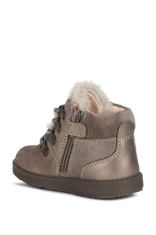 sivá Geox - Detské kožené topánky