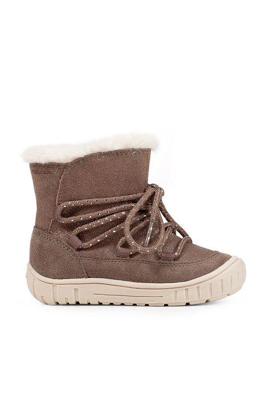 sivá Geox - Detské semišové topánky Dievčenský