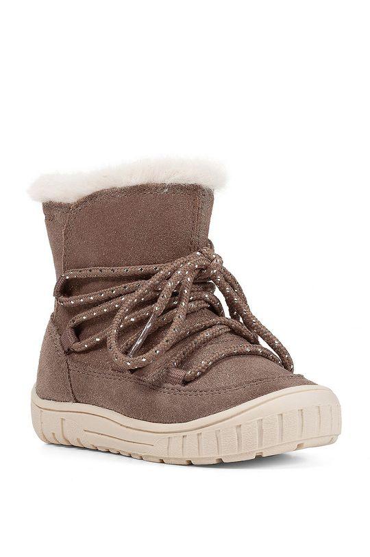 Geox - Detské semišové topánky sivá