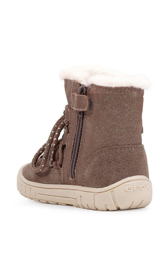 сірий Geox - Дитячі замшеві кросівки