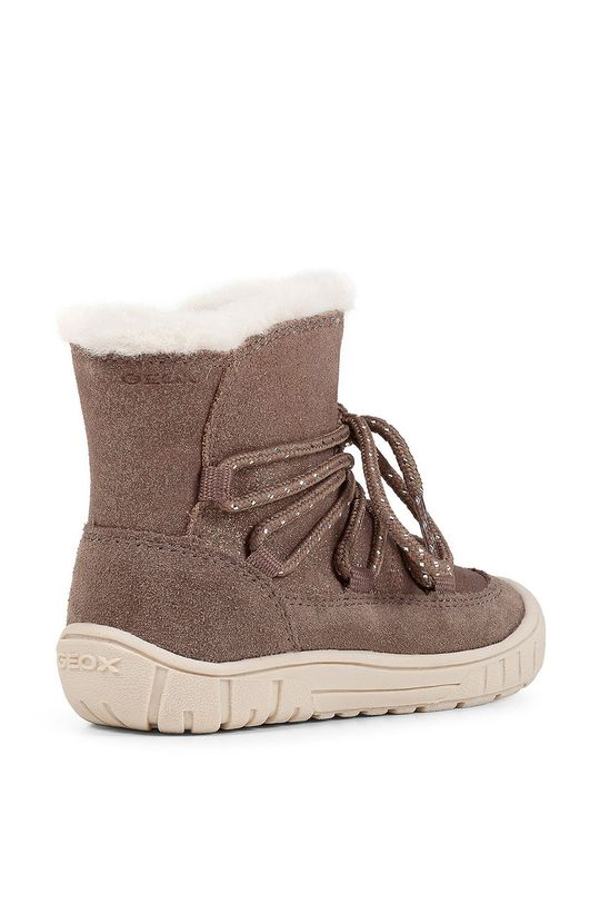 Geox - Detské semišové topánky Dievčenský