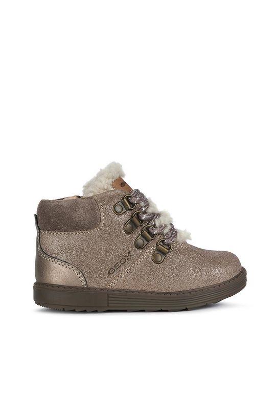 šedá Geox - Dětské boty Dívčí