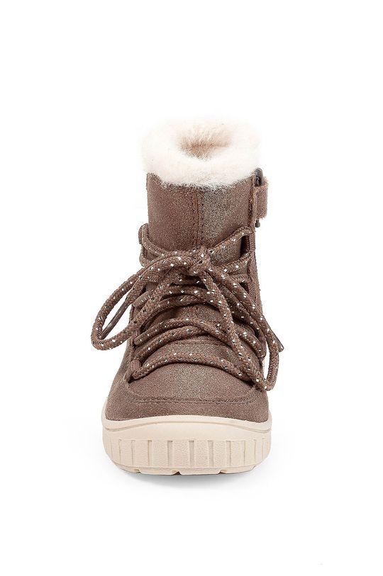 Geox - Śniegowce dziecięce Cholewka: Skóra naturalna, Wnętrze: Materiał syntetyczny, Materiał tekstylny, Wełna, Podeszwa: Materiał syntetyczny