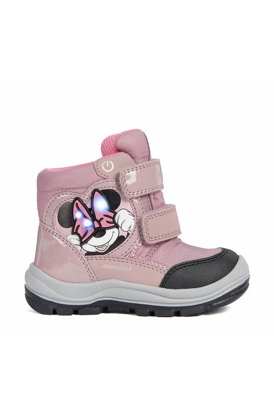 ružová Geox - Detské topánky Dievčenský