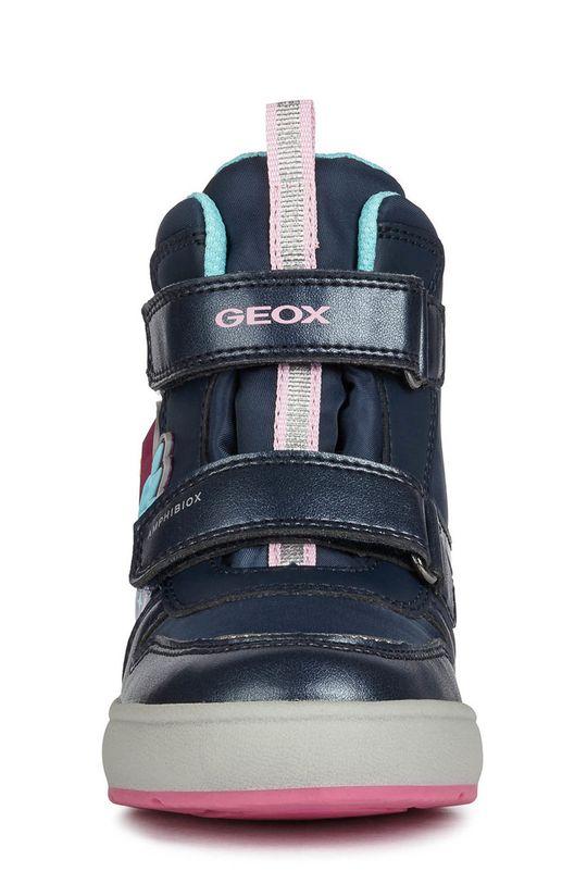 granatowy Geox - Śniegowce dziecięce