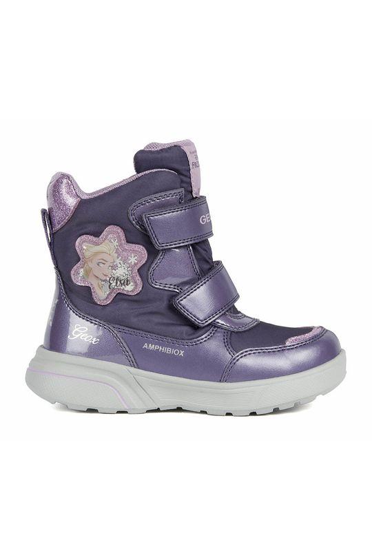fialová Geox - Dětské sněhule Dívčí