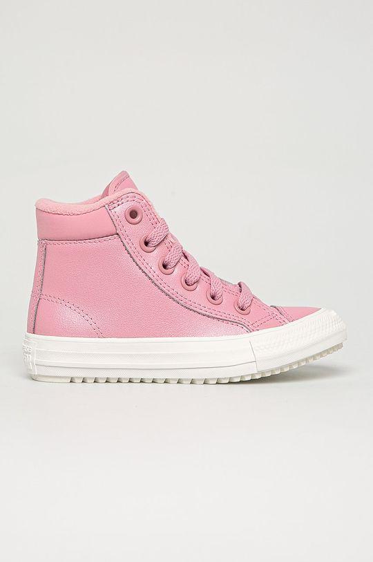 růžová Converse - Dětské kožené kecky Dívčí