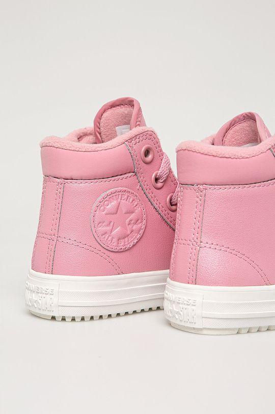 růžová Converse - Dětské kožené kecky